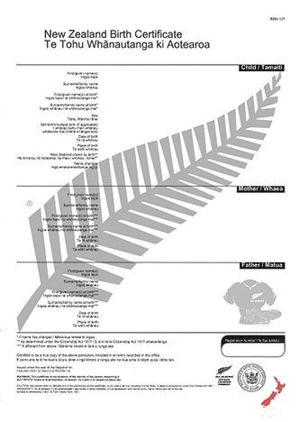 Order a birth certificate - NZ Government