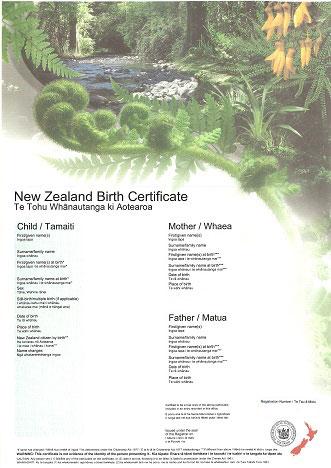 Get a New Zealand Birth Certificate